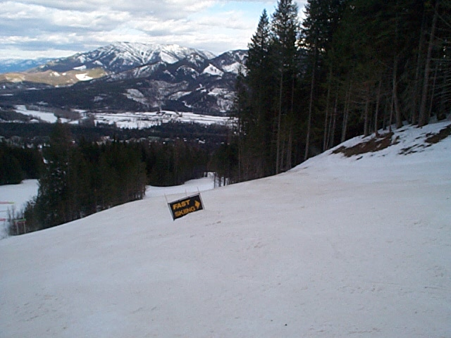 Have you ever seen a ski resort with a sign like this?