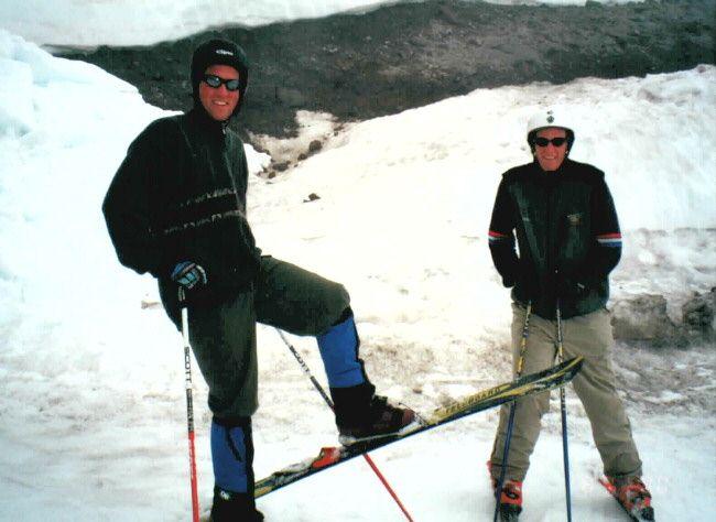 Two fun-loving, sick teleboarders: Eric and Matt
